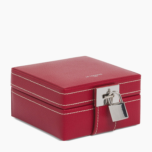 Leather travel jewelry box - Le Tanneur