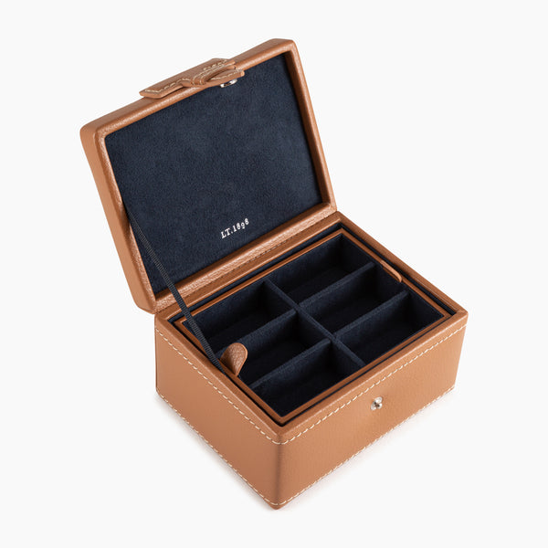 Leather cufflinks box - Le Tanneur