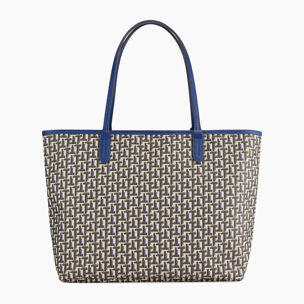 Camille large horizontal tote bag in coated canvas - Le Tanneur