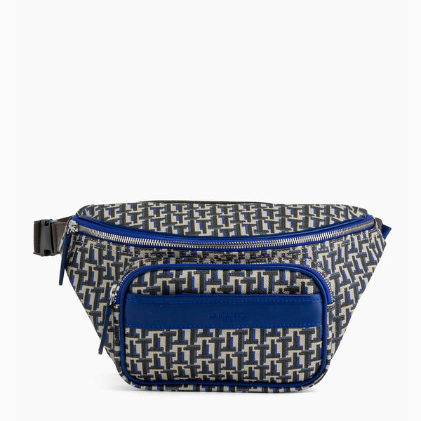 Camille banana bag in coated canvas - Le Tanneur