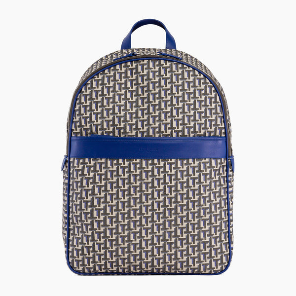 Camille zipped backpack in coated canvas - Le Tanneur