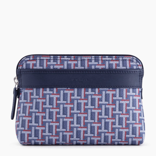 Large Camille zipped case in coated canvas - Le Tanneur