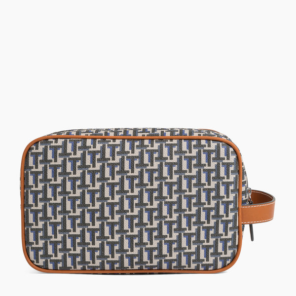 Camille toilet bag in coated canvas - Le Tanneur