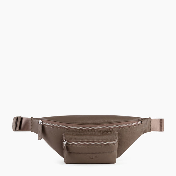 Pebbled leather Charles waist bag - Le Tanneur