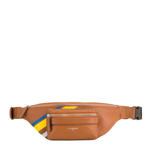 Pebbled leather Charles waist bag