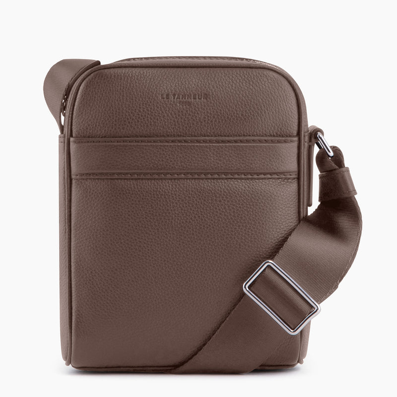 Little Charles pebbled leather satchel - Le Tanneur