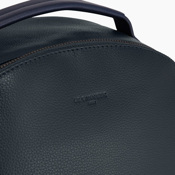 Charles pebbled leather Zippered Backpack - Le Tanneur