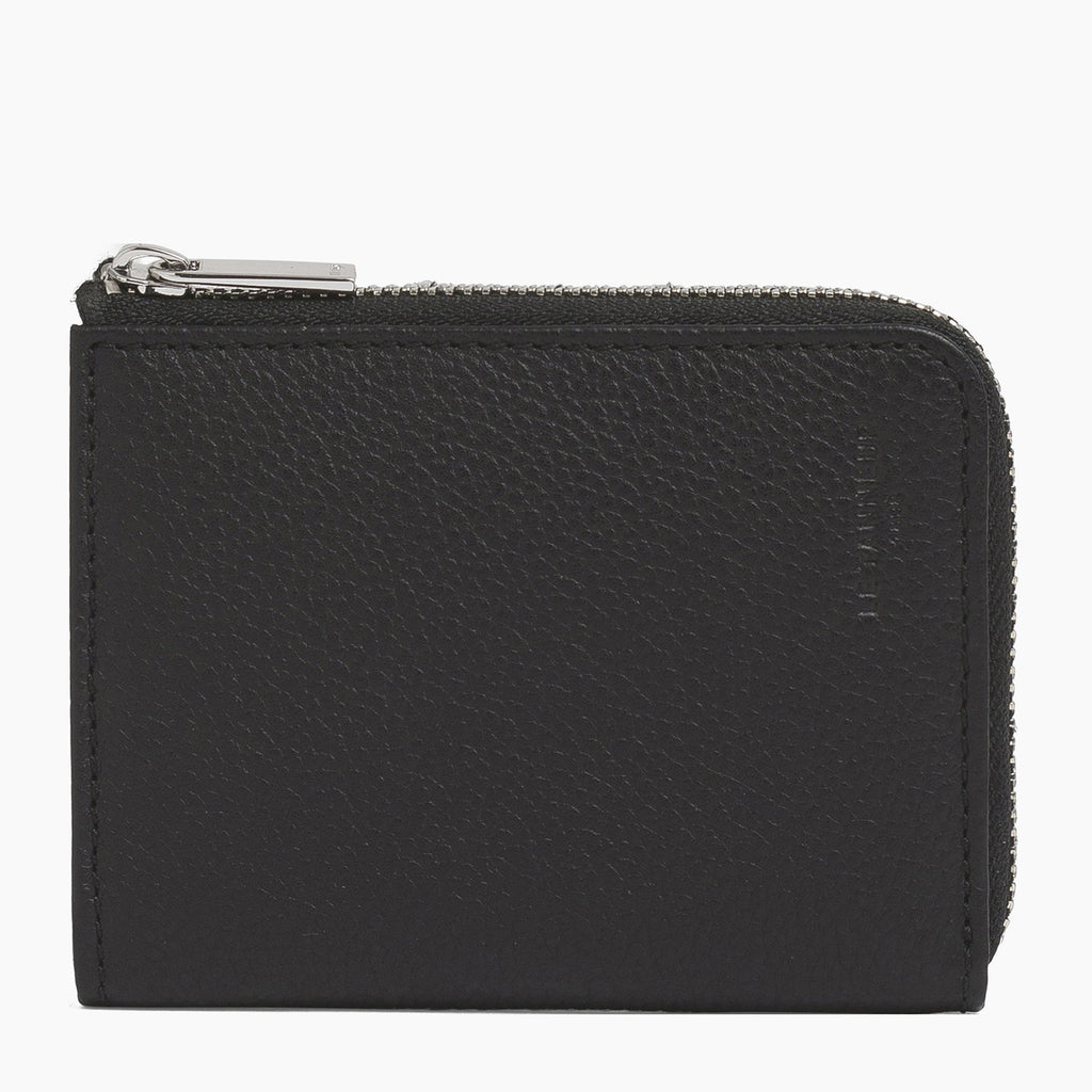 2 Zip Sections Mini Wallet Leather Coin Purse Choice of Colors Key Pouch