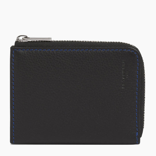 Charles pebbled leather L-shaped zip coin purse - Le Tanneur