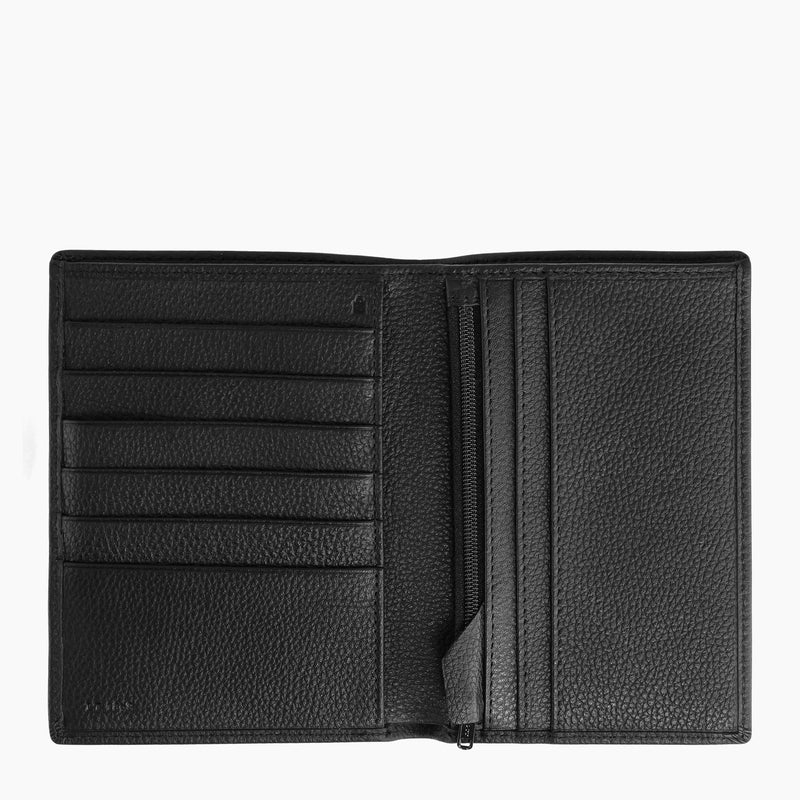 Zipped wallet Charles pebbled leather - Le Tanneur