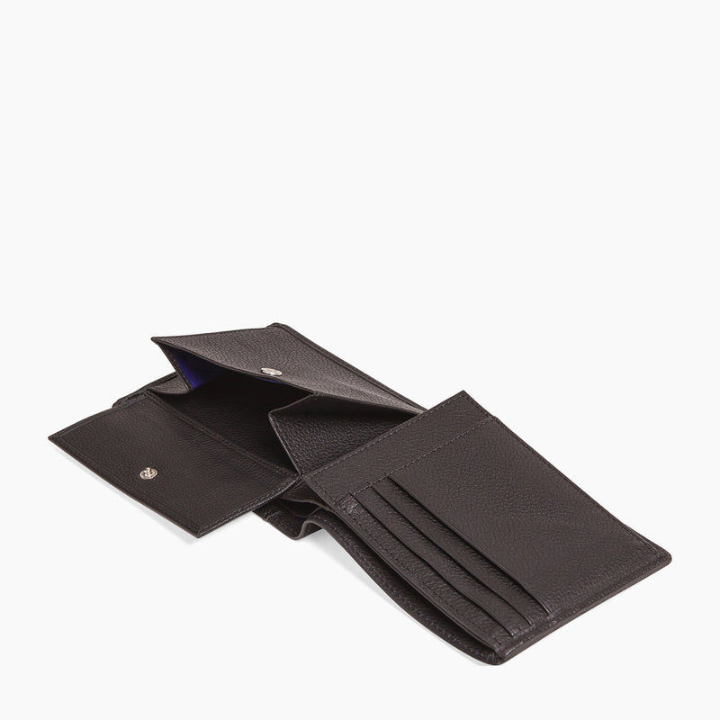 Charles pebbled leather 2 flap wallet - Le Tanneur