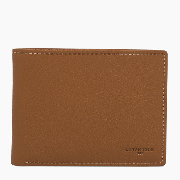 Charles pebbled leather - Le Tanneur 2 flap wallet