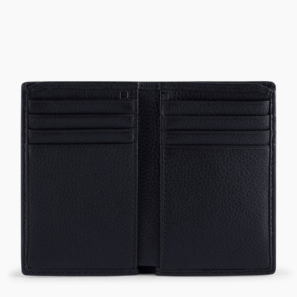 Charles pebbled leather small card case - Le Tanneur