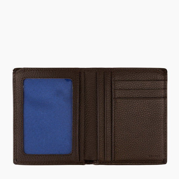 Medium card case model Charles pebbled leather - Le Tanneur