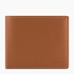 Card case with Charles pebbled leather bill pocket - Le Tanneur