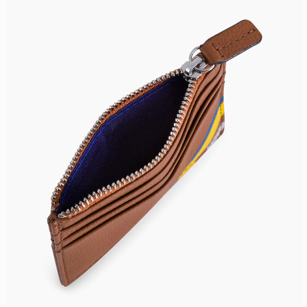 Zipped card case Charles pebbled leather - Le Tanneur