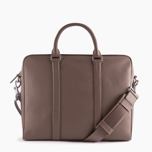 "Porte documents slim 14"" Charles en cuir grainé  - Le Tanneur"