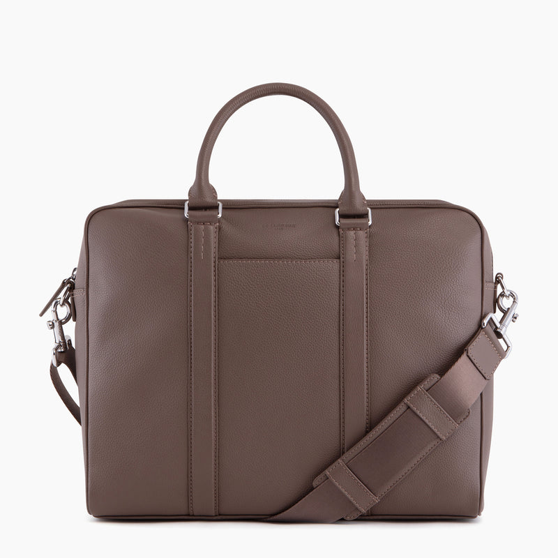 "14"" Charles pebbled leather briefcase - Le Tanneur"
