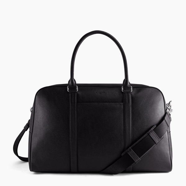 Travel bag 48 hours Charles pebbled leather - Le Tanneur