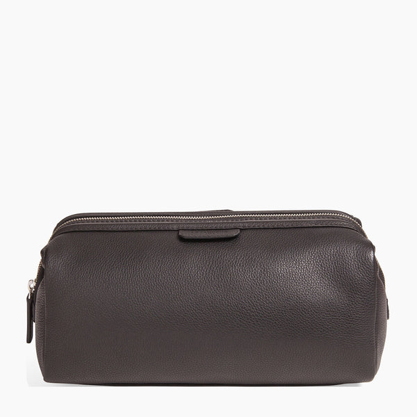 Toiletries bag Charles pebbled leather - Le Tanneur