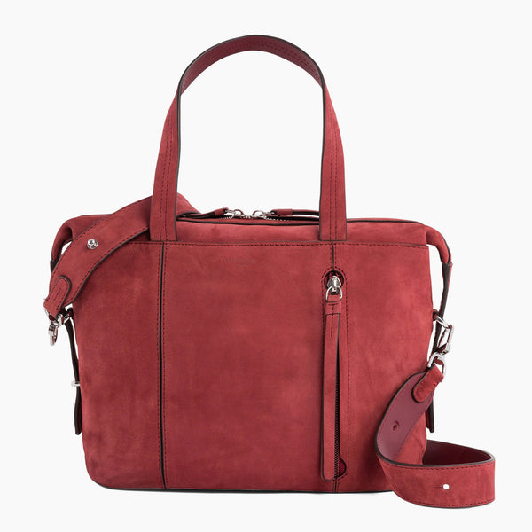 Elaine small bowling bag in nubuck leather - Le Tanneur