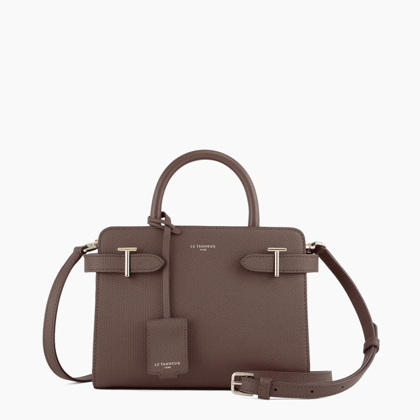 Emilie small leather handbag monogram - Le Tanneur