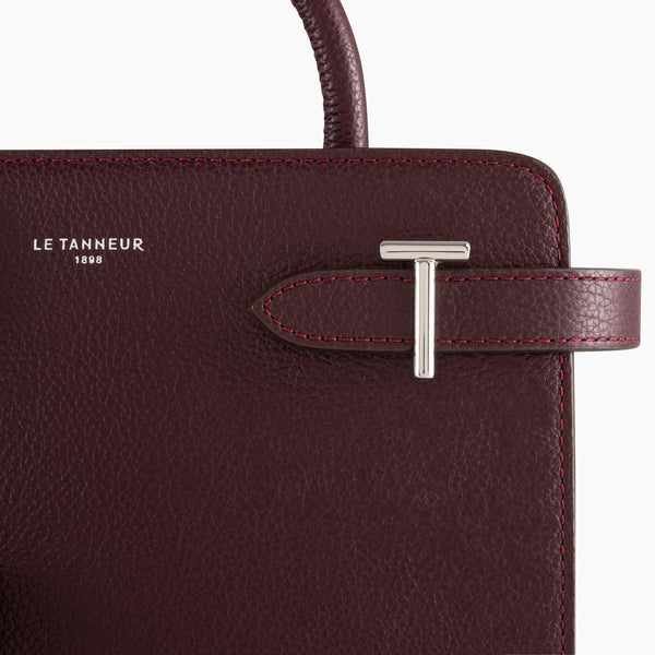 Small handbag Emilie pebbled leather - Le Tanneur
