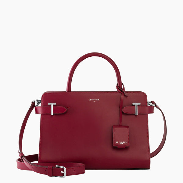 Medium handbag Emilie smooth leather model - Le Tanneur