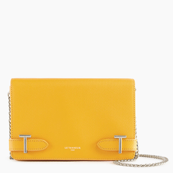 Emilie small shoulder bag in monogrammed leather - Le Tanneur