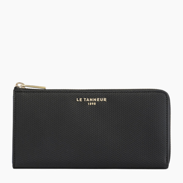 Emilie monogrammed leather zipped companion - Le Tanneur