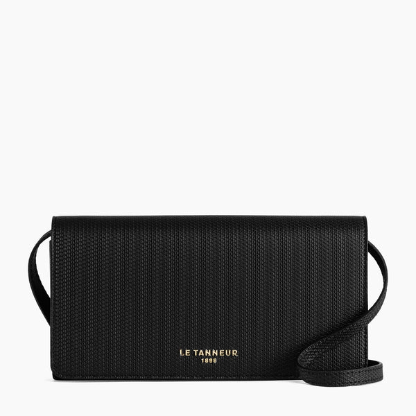 Women's Flap Emile monogram leather clutch - Le Tanneur