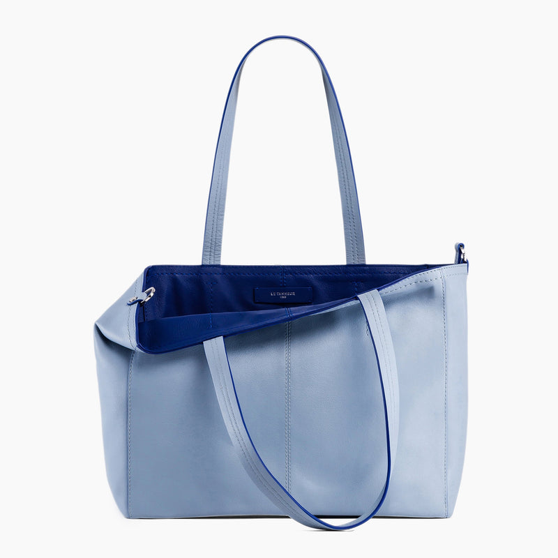 Large horizontal tote bag carried on the shoulder Eve smooth leather - Le Tanneur