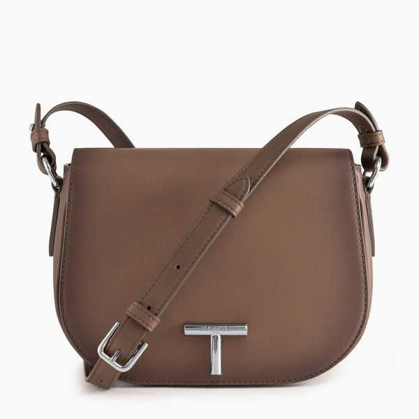 Medium shoulder bag model Gisèle smooth leather - Le Tanneur