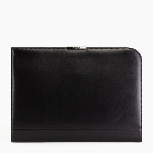 "13"" Honoré smooth leather computer pouch - Le Tanneur"