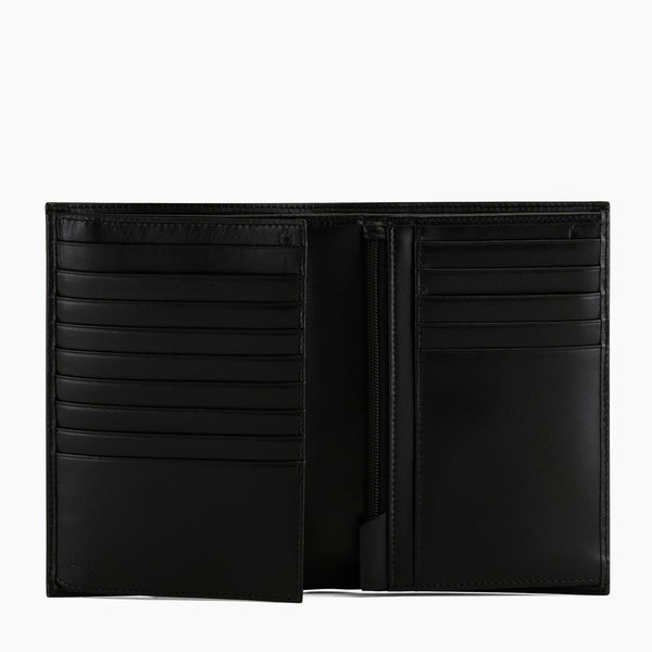 Honoré smooth leather vertical 2-panel wallet - Le Tanneur