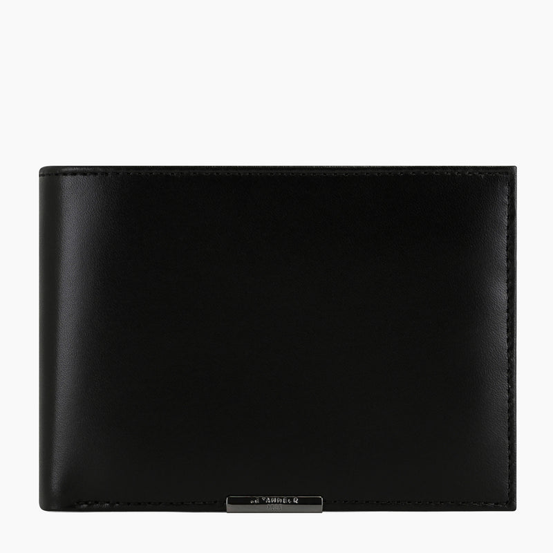 Horizontal 2 flap wallet with coin pocket flap Honoré smooth leather - Le Tanneur