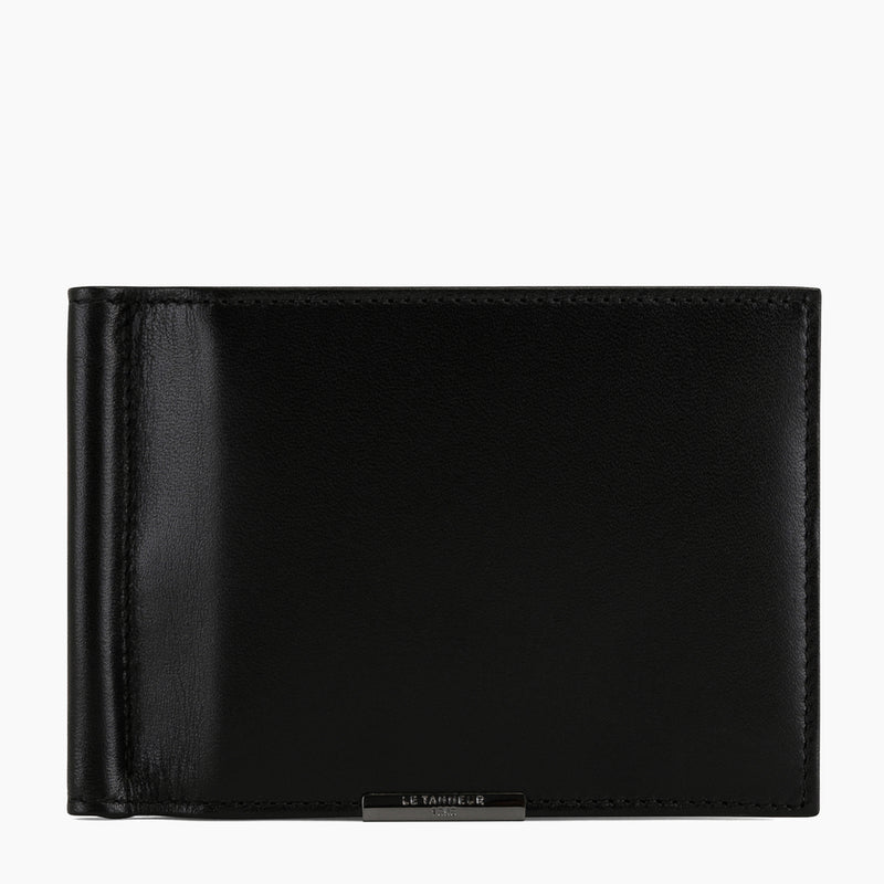 Card holder with Honoré smooth leather money clip - Le Tanneur