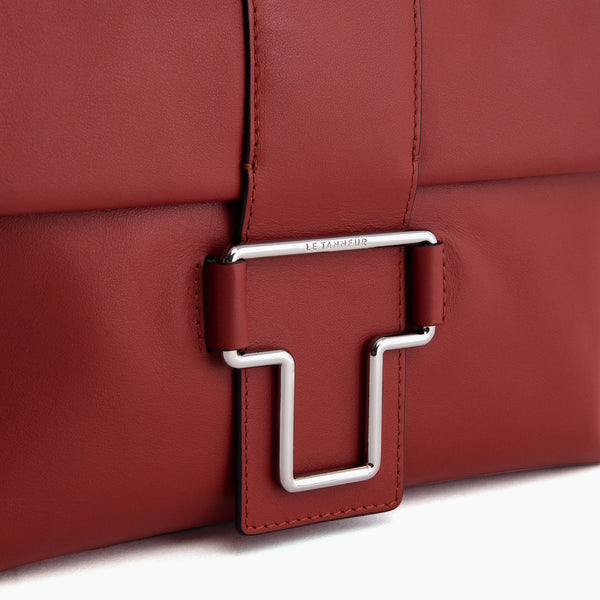 Iris smooth leather small shoulder bag - Le Tanneur