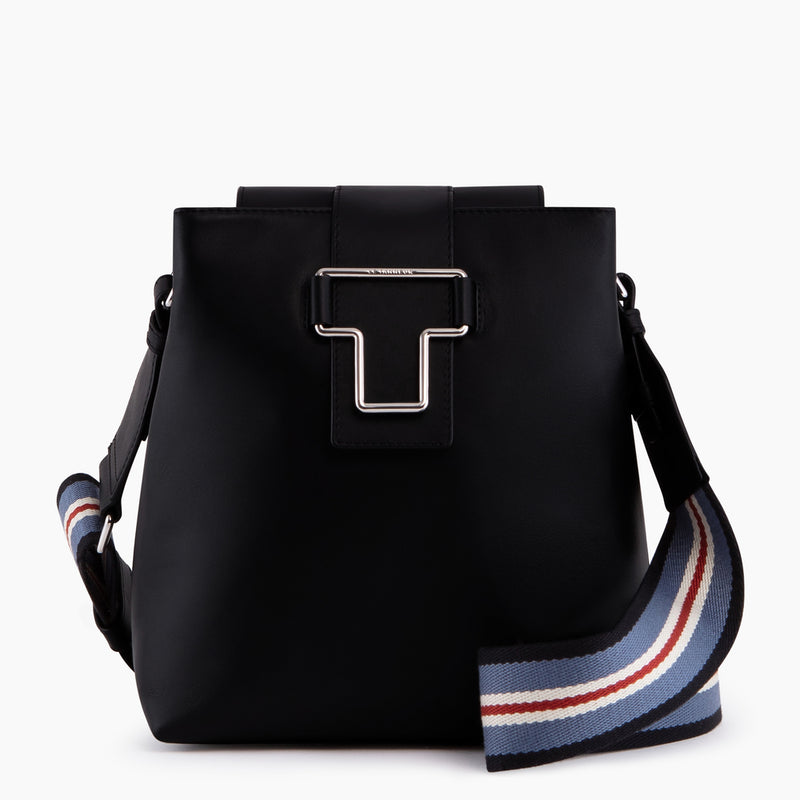 Small bucket bag with shoulder strap Iris smooth leather - Le Tanneur