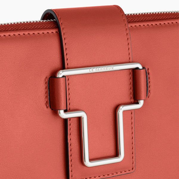 "13"" Iris smooth leather computer pouch - Le Tanneur"