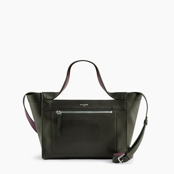 Jade pebbled leather small purse - Le Tanneur