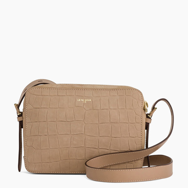 Josephine small shoulder bag in nubuck leather - Le Tanneur
