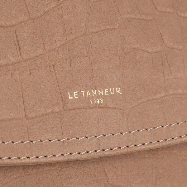 Medium shoulder bag model Josephine in nubuck leather - Le Tanneur