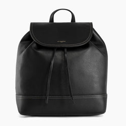 Josephine pebbled leather flap backpack - Le Tanneur