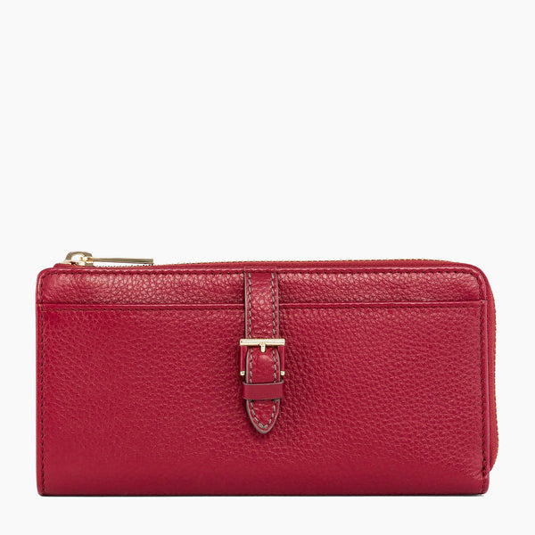 Joséphine pebbled leather zipped compact companion - Le Tanneur