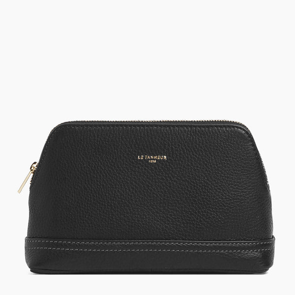 Joséphine large zipped case pebbled leather  - Le Tanneur