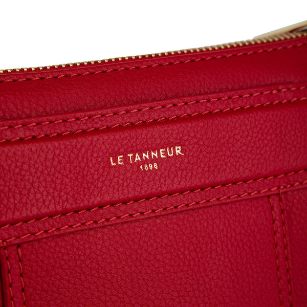 Small shoulder bag Judith pebbled leather - Le Tanneur