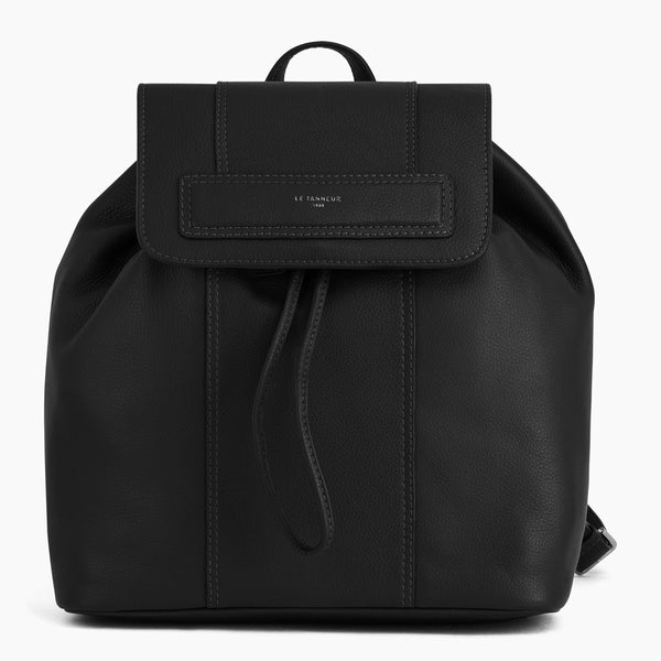 Judith pebbled leather flap backpack - Le Tanneur