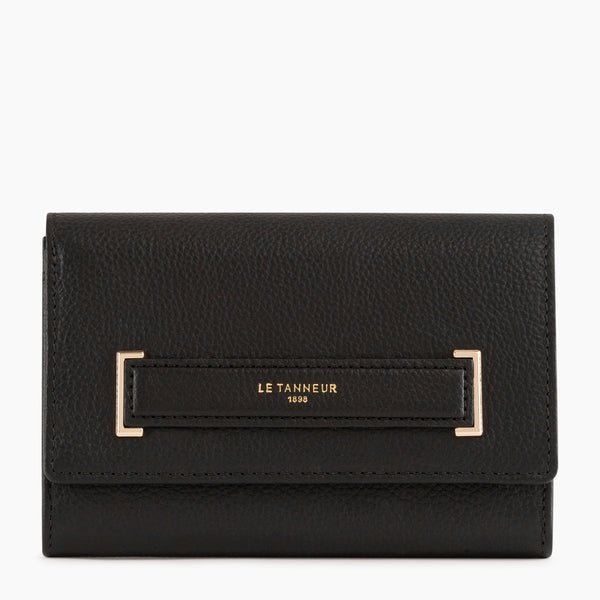 Small zipped wallet Judith pebbled leather - Le Tanneur