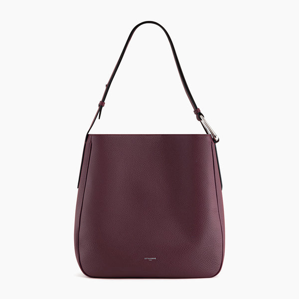 Madeleine pebbled leather large hobo bag - Le Tanneur